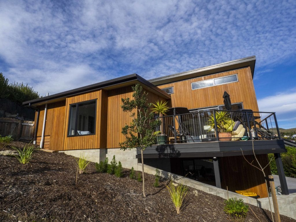 Pure Eco Painting Nelson Christchurch | House Painting Photo Gallery | Passive Certified Home Christchurch | Cedar Cladding in Natural Premium Oil