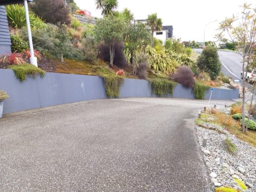 Exterior - Tired retaining wall