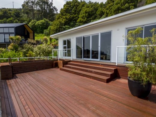 Exterior - newly oiled deck