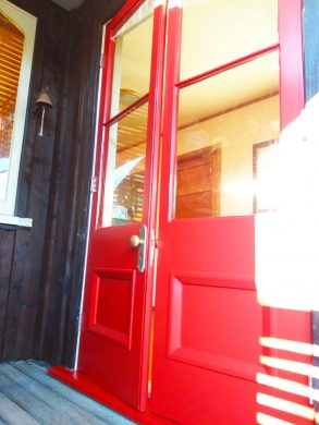 Vibrant red doors