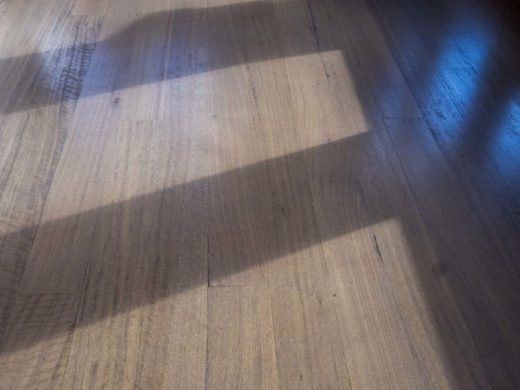 Revitalised eucalyptus floor boards